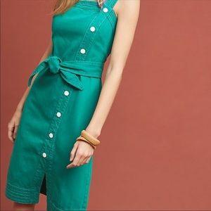 Anthropologie Green Maeve Sundress Size XL